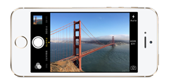 iPhone with Golden Gate Bridge