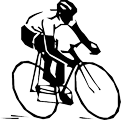 Person riding bike